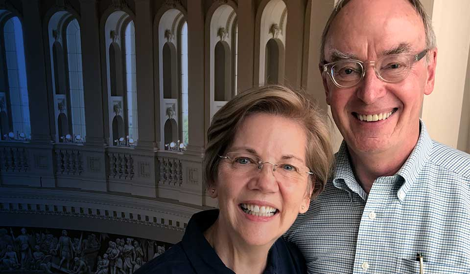 Elizabeth Warren and her husband Bruce Mann